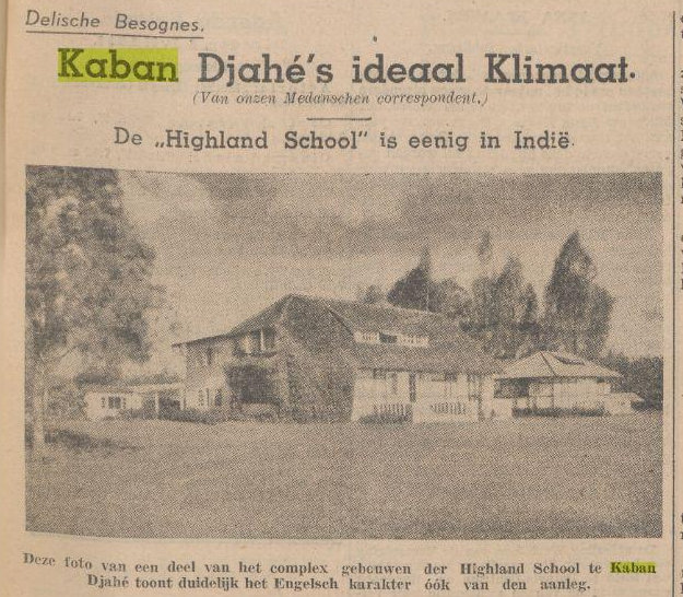Higlands School Kabanjahe