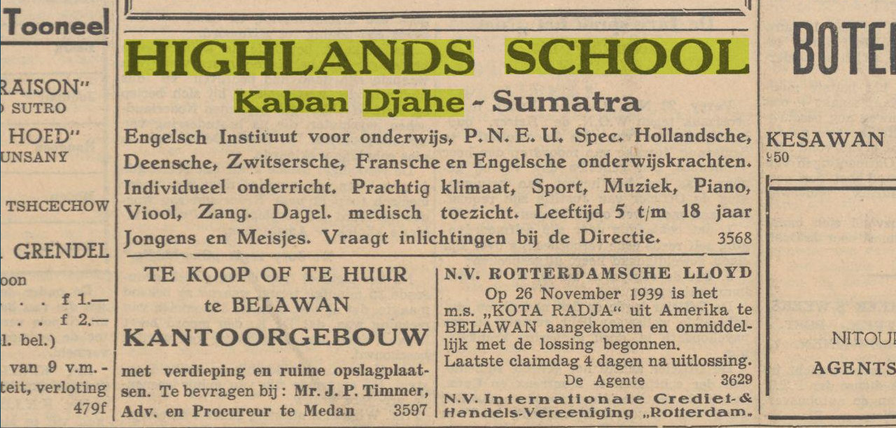 Iklan Highlands School Kabanjahe