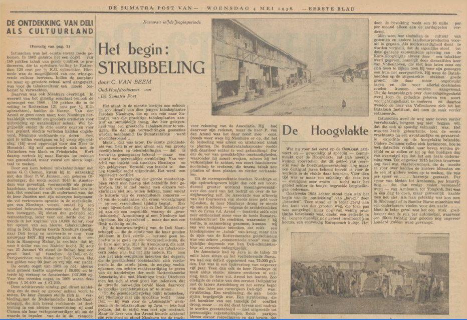 De Sumatra Post, 04-05-1938