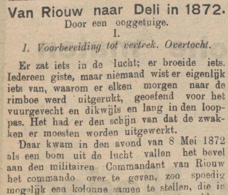 Koran De Sumatra Post tanggal 19-08-1915
