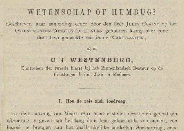 Jurnal : Tijdschrift van de Nederlandsch Aardrijkundig Genootschap IX, 1892