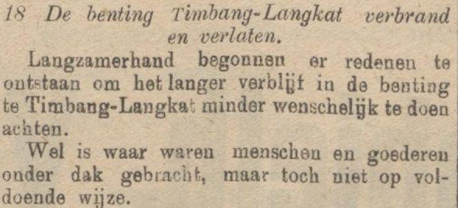 Koran De Sumatra Post tanggal 30-08-1915.