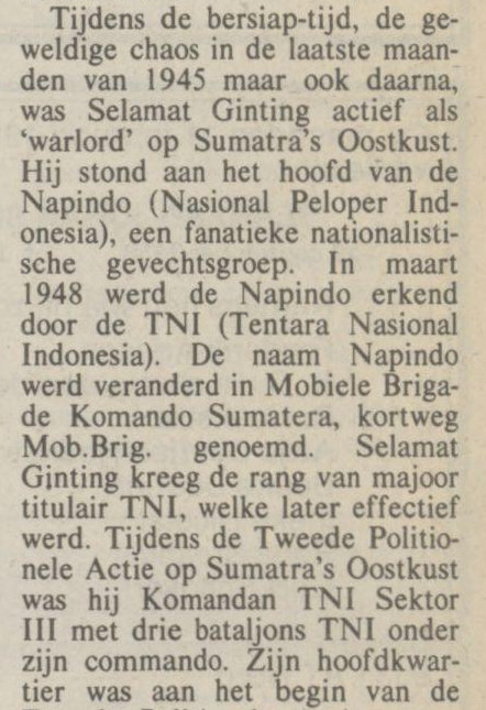Koran NRC Handelsblad tanggal 16-02-1991.