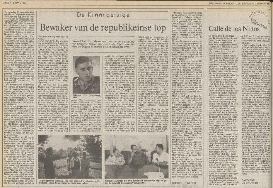 NRC Handelsblad tanggal 19-01-1991 halaman 24.