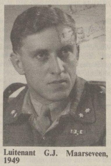 Letnan G.J. Maarseveen, 1949. Sumber : NRC Handelsblad tanggal 19-01-1991.
