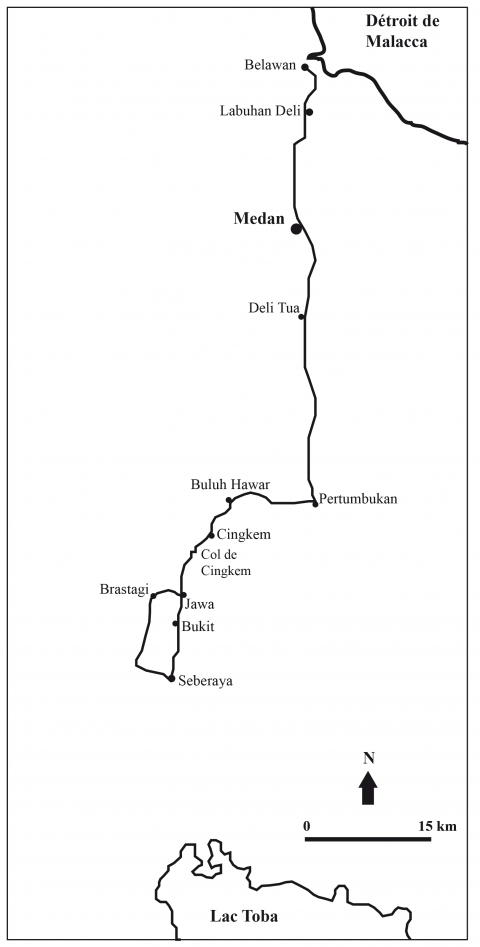 Peta Perjalanan Claine (sumber : Le Tour du Monde, 1892)