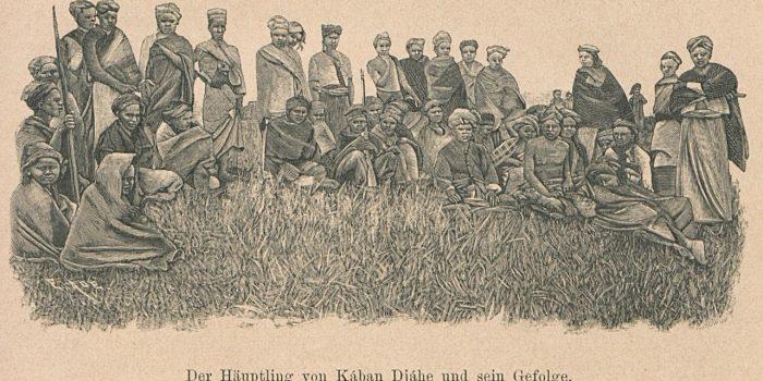 "Dari buku Joachim Freiherr von Brenner tahun 1894 berjudul ""Besuch bei den Kannibalen Sumatras"""