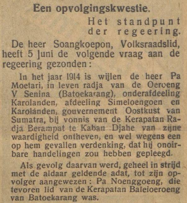 De Indische Courant terbitan tanggal 23-07-1931