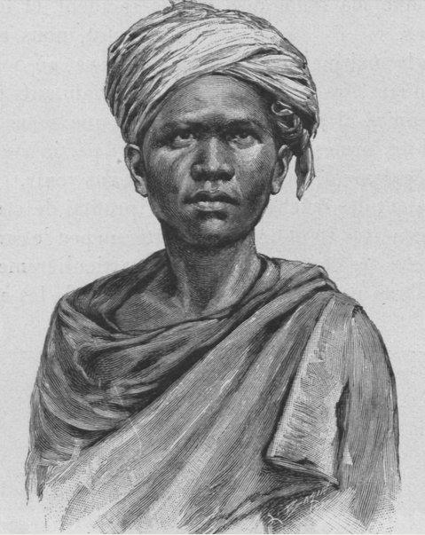 Pria Karo. Dari buku Un an en Malaisie (1889-1890) oleh Jules Claine.