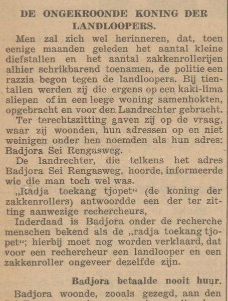 Koran De Sumatra Post  tanggal 23-05-1936.