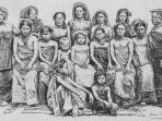 Para Perempuan Karo. Dari buku Un an en Malaisie (1889-1890) oleh Jules Claine.